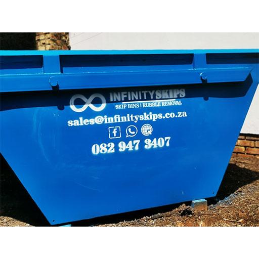 Blue Mini Skip Bin Infinity Skips