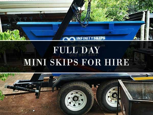 Full Day Mini Skip Bins For Hire