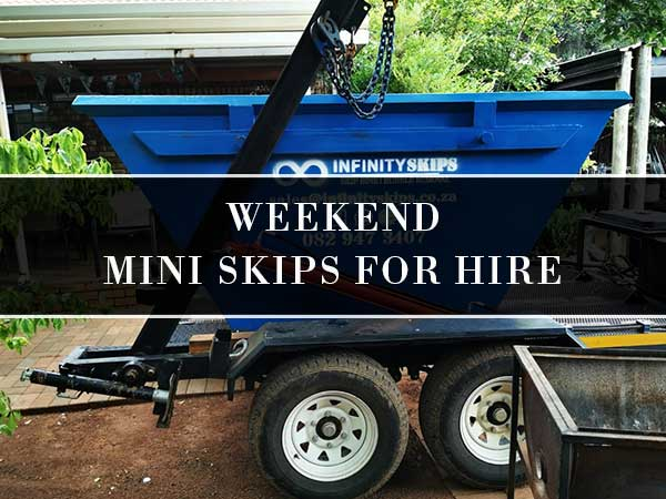 Weekend Mini Skip Bins For Hire